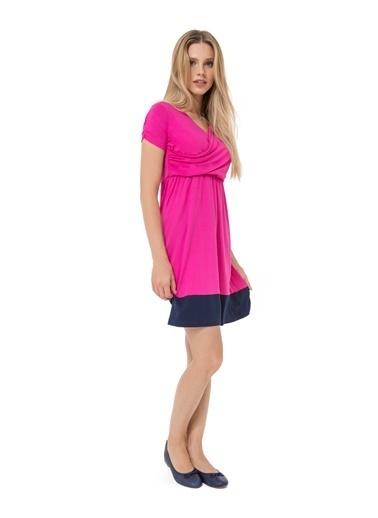Accouchée Kolay Emzirme Özellikli Elbise Fuşya